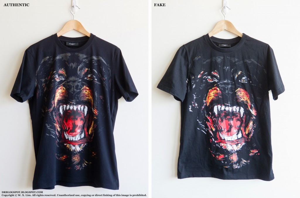 Buyers beware how to spot a fake givenchy rottweiler Givenchy t shirt price