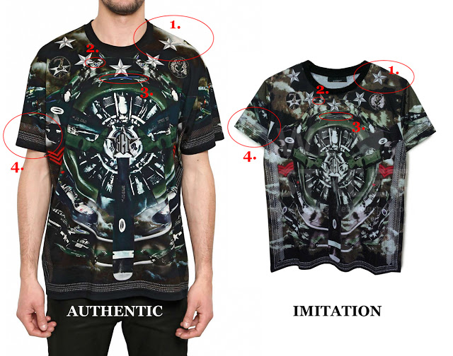 7bbf58f1a Source: (Left) LUISAVIAROMA – Givenchy Fighter Plane Oversize T-Shirt,  (Right) Givenchy Fighter Plane T-Shirt from private seller