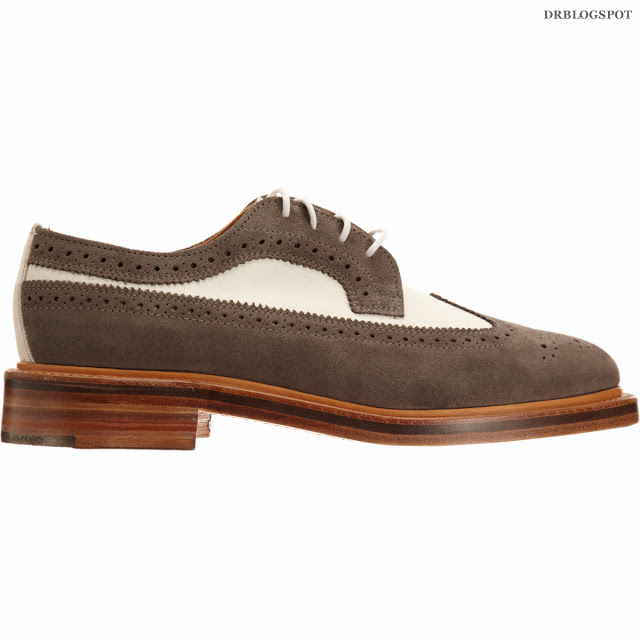 d5396107cdc7 End – Thom Browne Wingtip Shoe White Nubuck   Grey Suede. Thom Browne  established his eponymous custom tailoring company in New York in 2002 and  since then ...