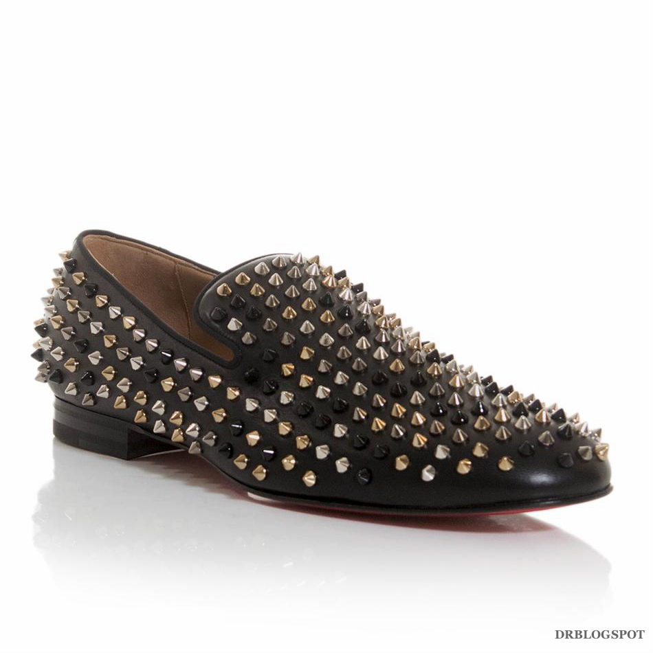 b9558ccc6f8d Christian Louboutin Mixed Spikes Rollerboy Leather Flats – Second ...