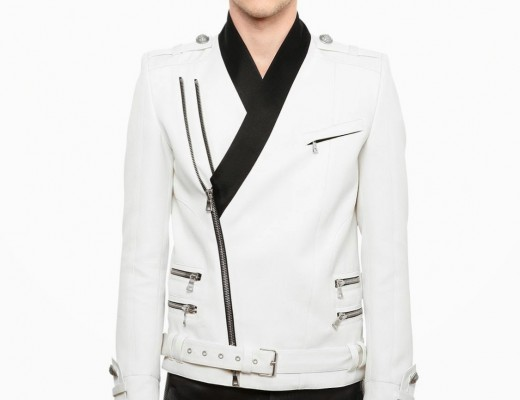 Balmain-Satin-Shawl-Lapel-White-Wool-Canvas-Biker-Jacket-Spring-Summer-2014-5591