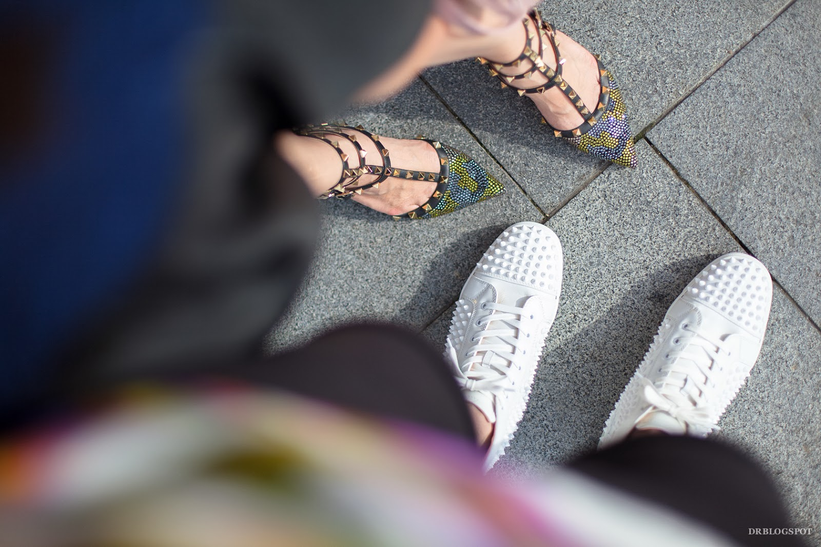 25ec13189372 Read much more details below about the Christian Louboutin Louis White  Spikes Leather Sneaker after my OOTD photos!