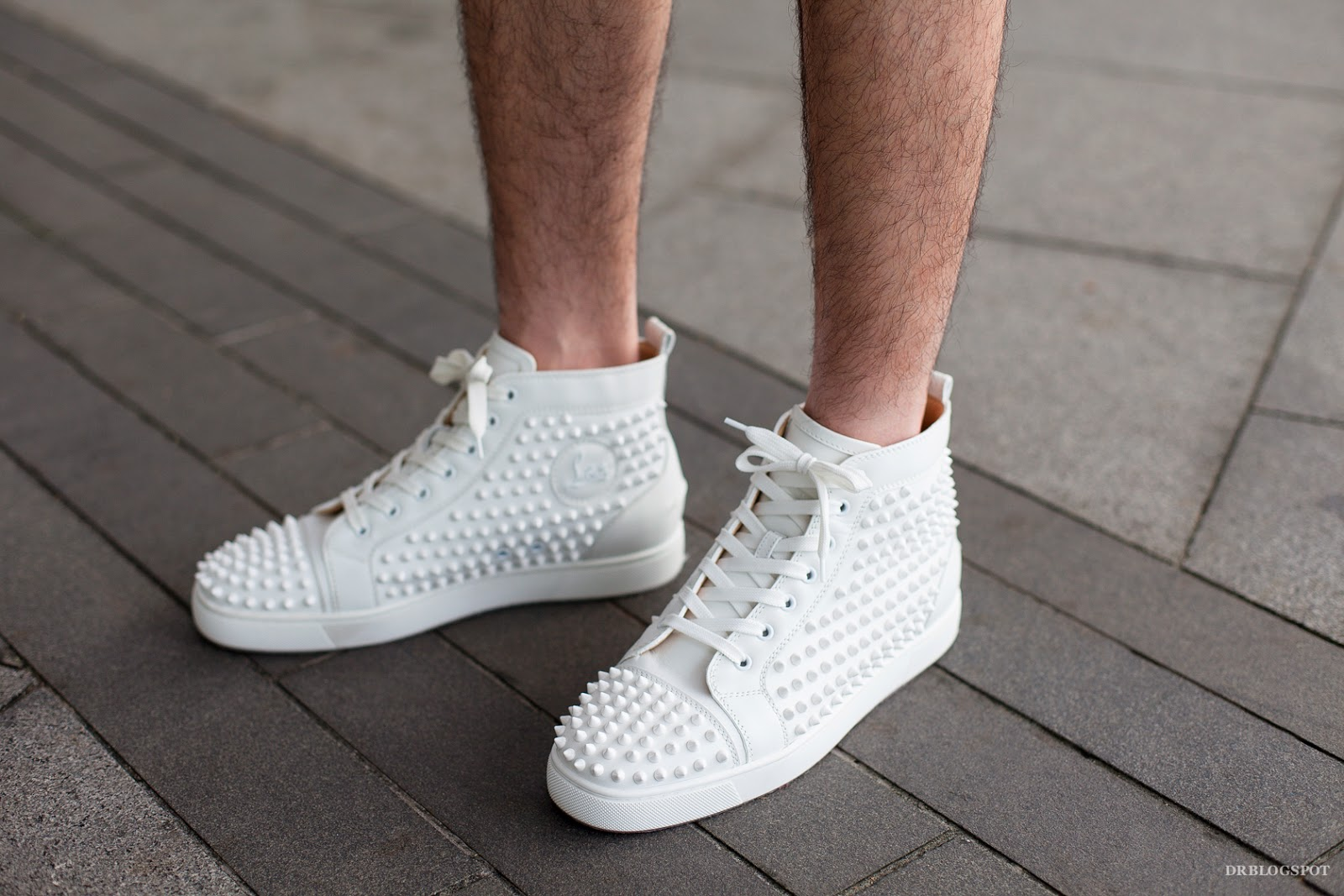 christian louboutin all white sneakers