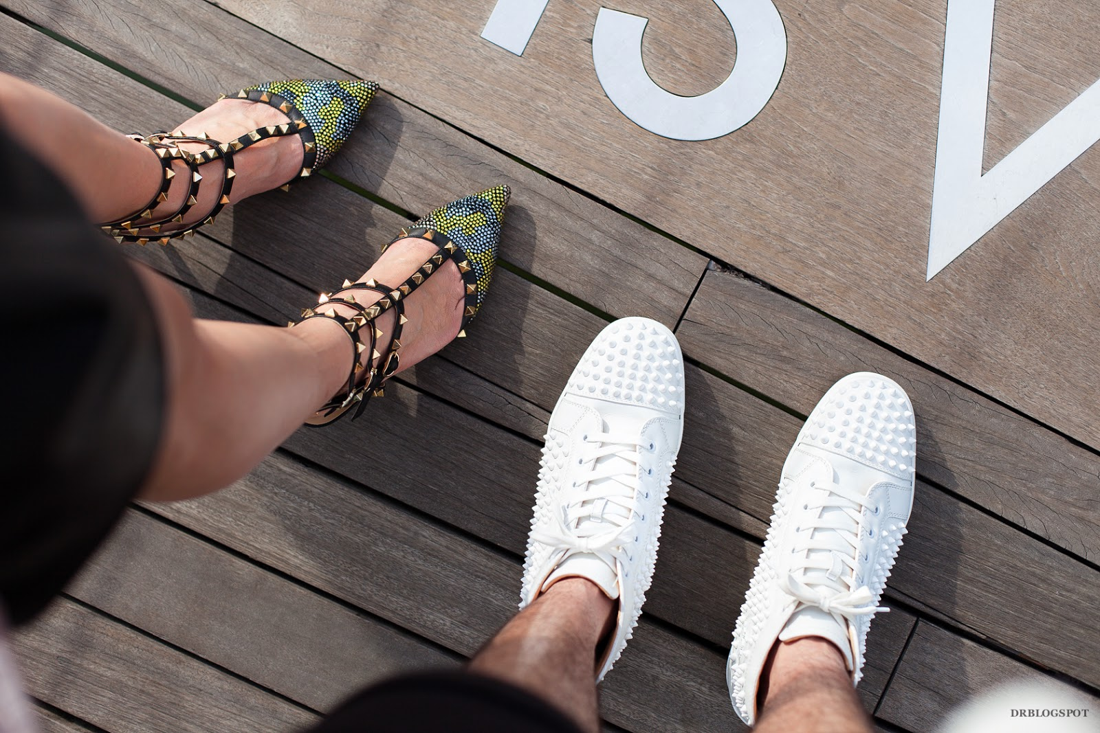 f666ba234571 ... Christian Louboutin Louis White Spikes Leather Sneaker after my OOTD  photos! DESIRES AND DECISIONS