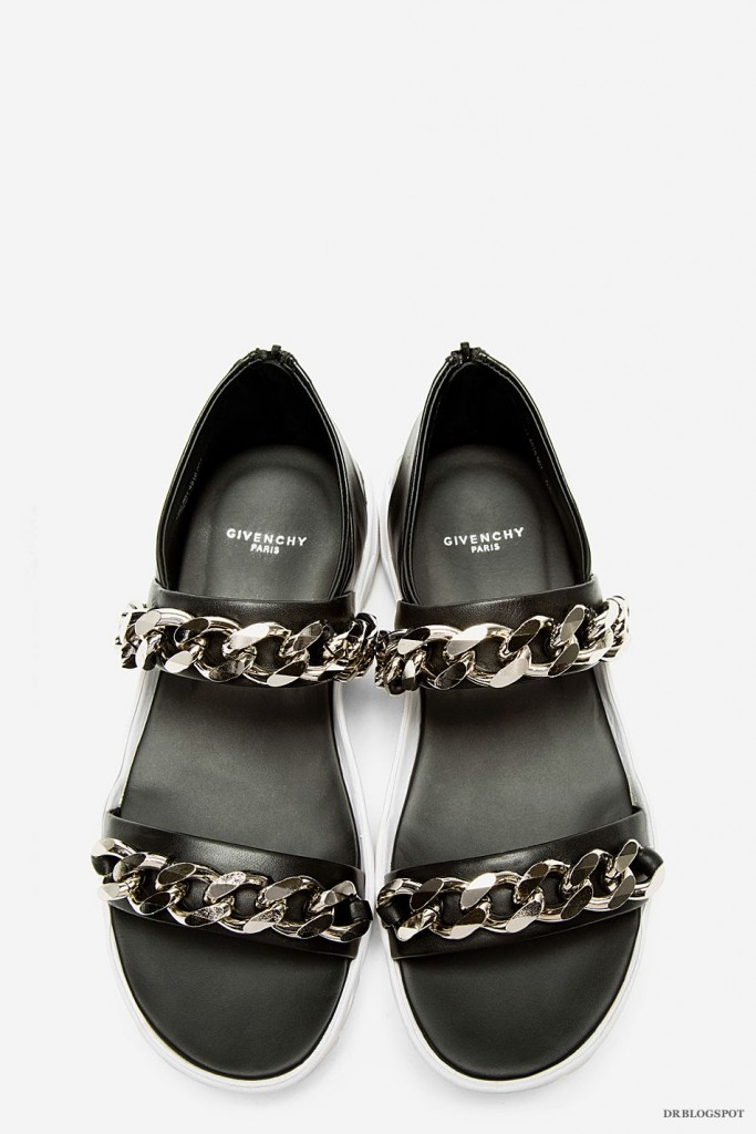 fd1ed80b4ad74d Givenchy Palladio Chain Detail Black Leather Sandals – Second Kulture