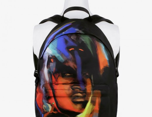 Givenchy-African-Brushstroke-Abstract-Print-Rusksack-Backpack-Pre-Fall-2014-accessories-collection
