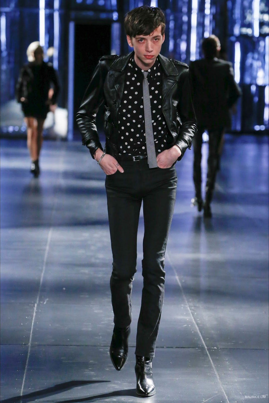 fb0ab12b2d5 Click here to see the complete Saint Laurent Fall Winter 2015 Menswear  collection…