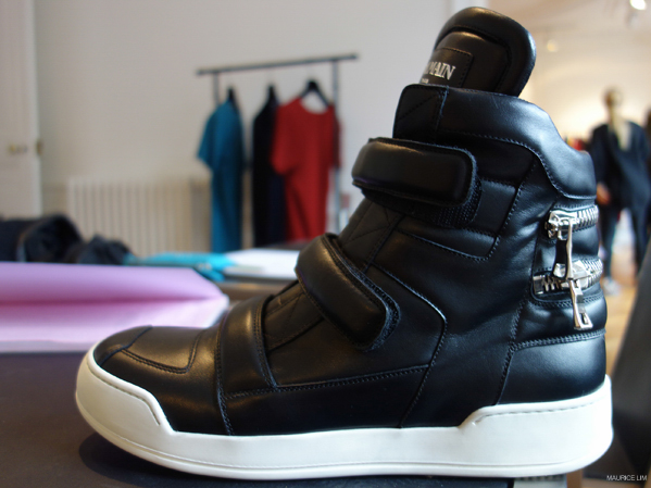 492ffa755f BALMAIN BLACK VELCRO ZIP-EMBELLISHED LEATHER HIGH-TOP SNEAKERS Balmain  Homme Fall Winter 2015 Collection