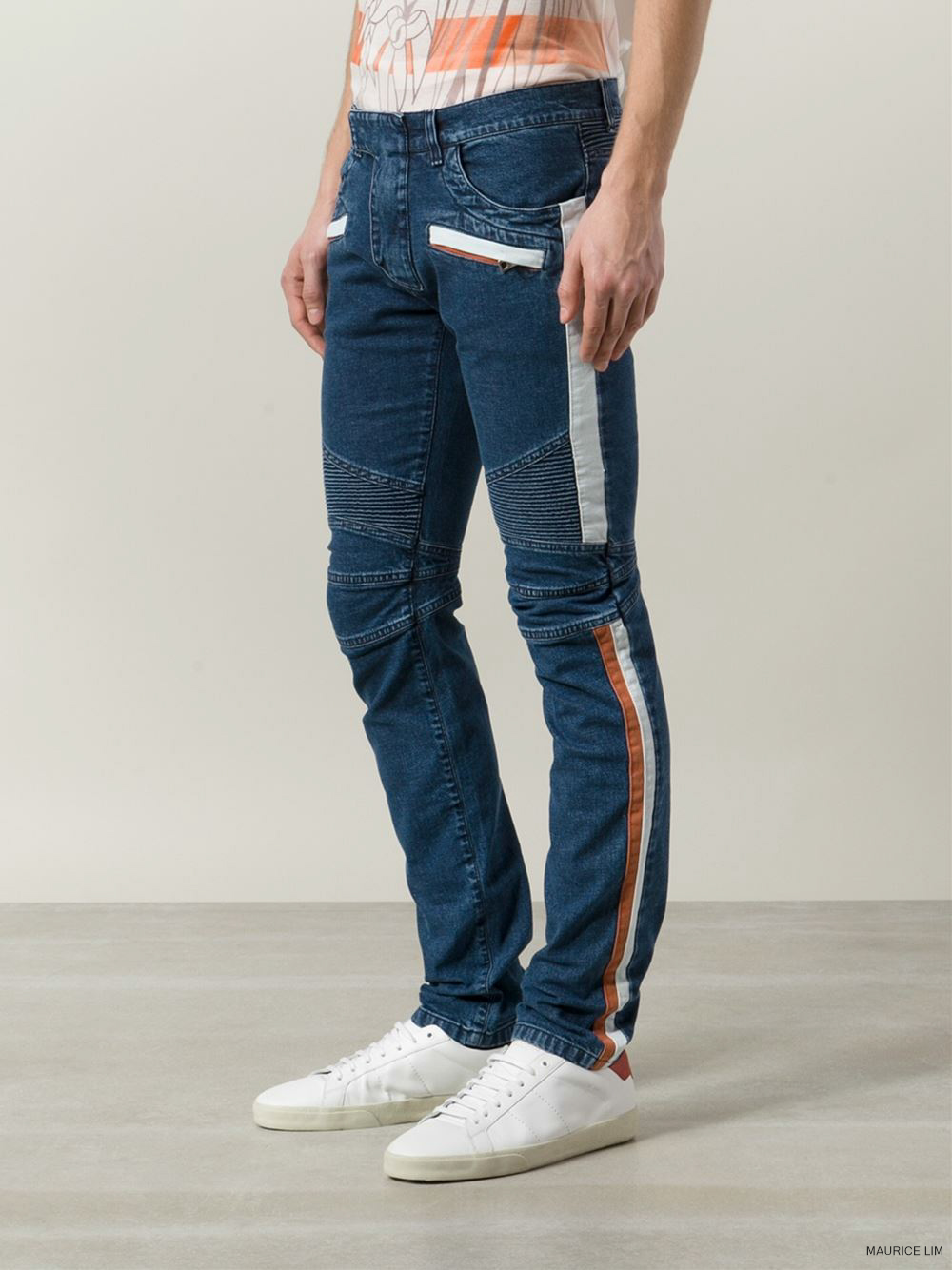 Balmain Spring Summer 2015 Biker Jeans and Trousers Size Guide – Second  Kulture fbef805a084b