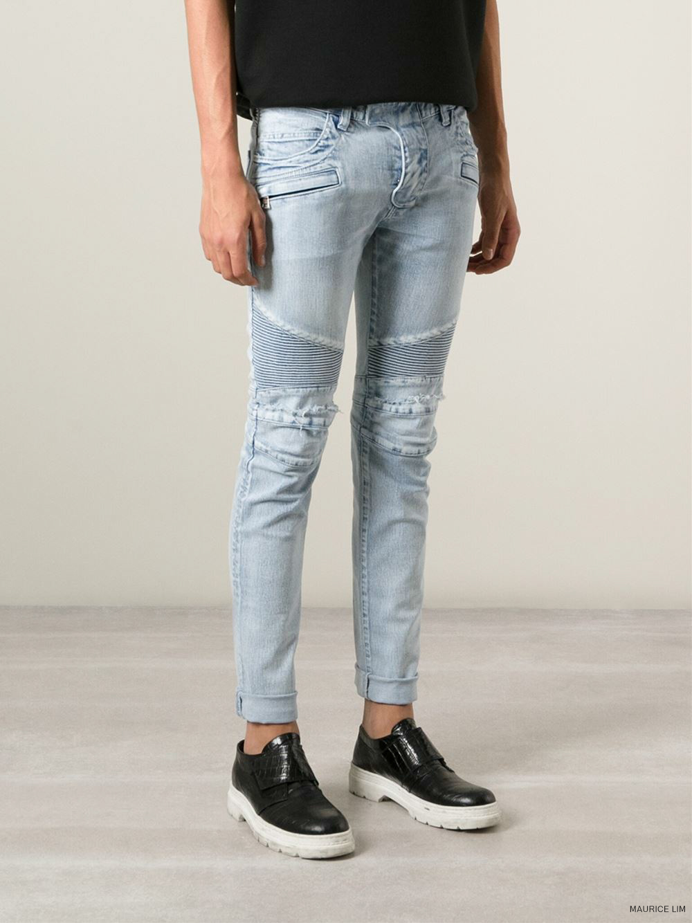 Balmain Spring Summer 2015 Biker Jeans And Trousers Size