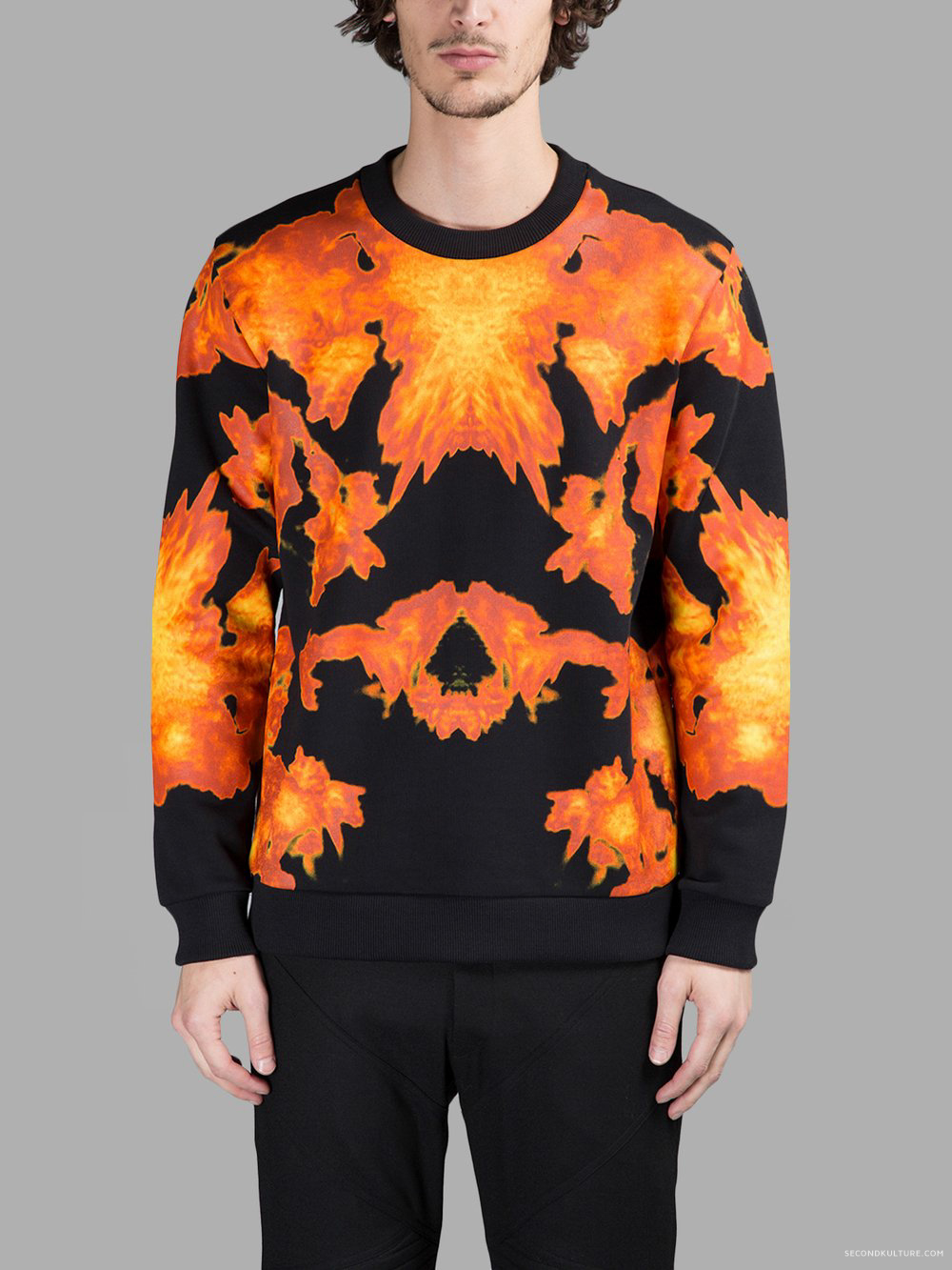 Givenchy-Black-Fire-Abstract-Print-Sweatshirt-Pre-Fall-2015