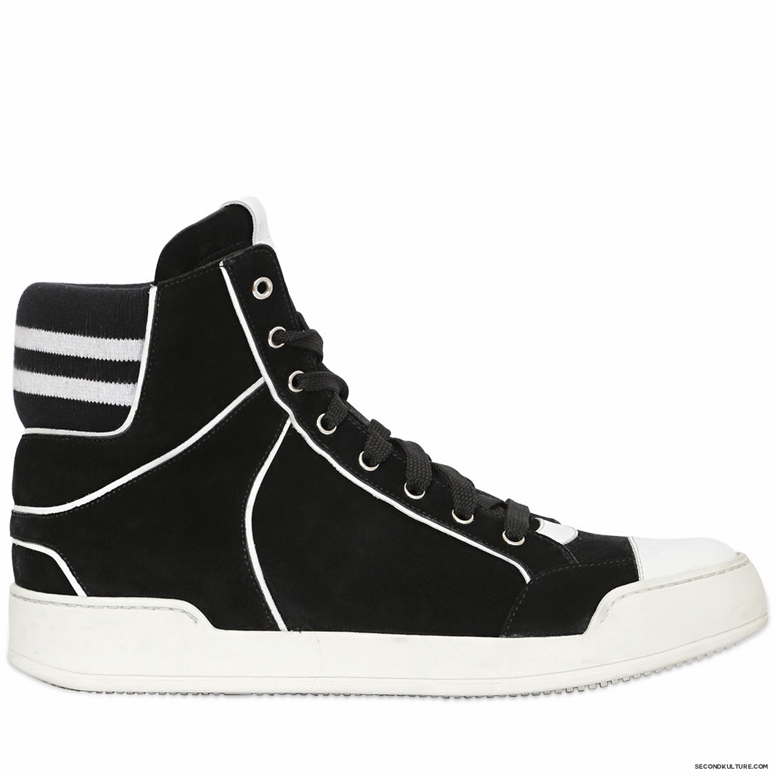 Balmain-Black-and-White-Suede-High-Top-Sneakers-Fall-Winter-2015-1