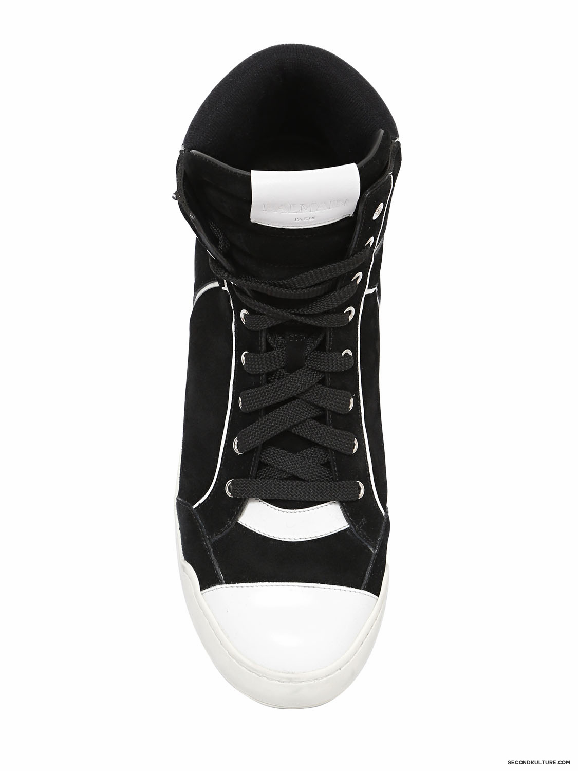Balmain-Black-and-White-Suede-High-Top-Sneakers-Fall-Winter-2015-2