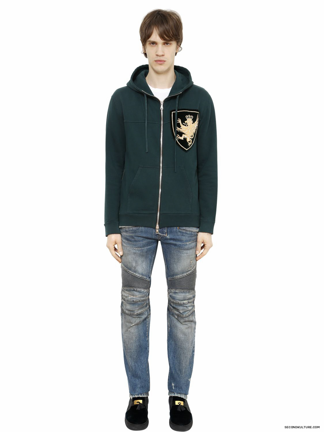 Balmain-Green-Crest-Embroidered-Hoodie-Fall-Winter-2015-2
