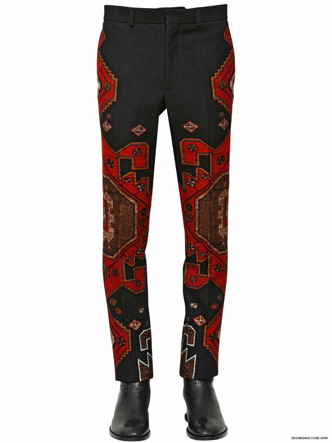 Givenchy-17cm-Native-American-Carpet-Gradient-Wool-Flannel-Trousers-Fall-Winter-2015-1