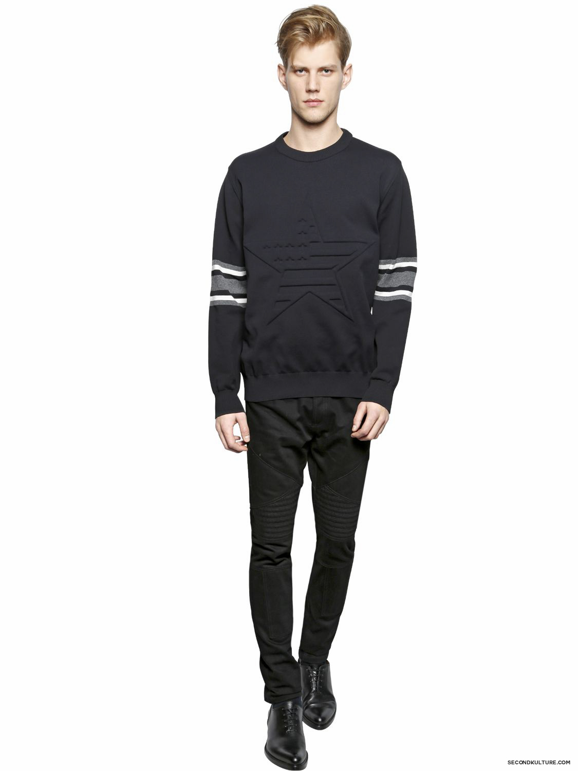 Givenchy-American-Flag-Star-Embossed-Striped-Sleeve-Print-Sweater-Fall-Winter-2015-2