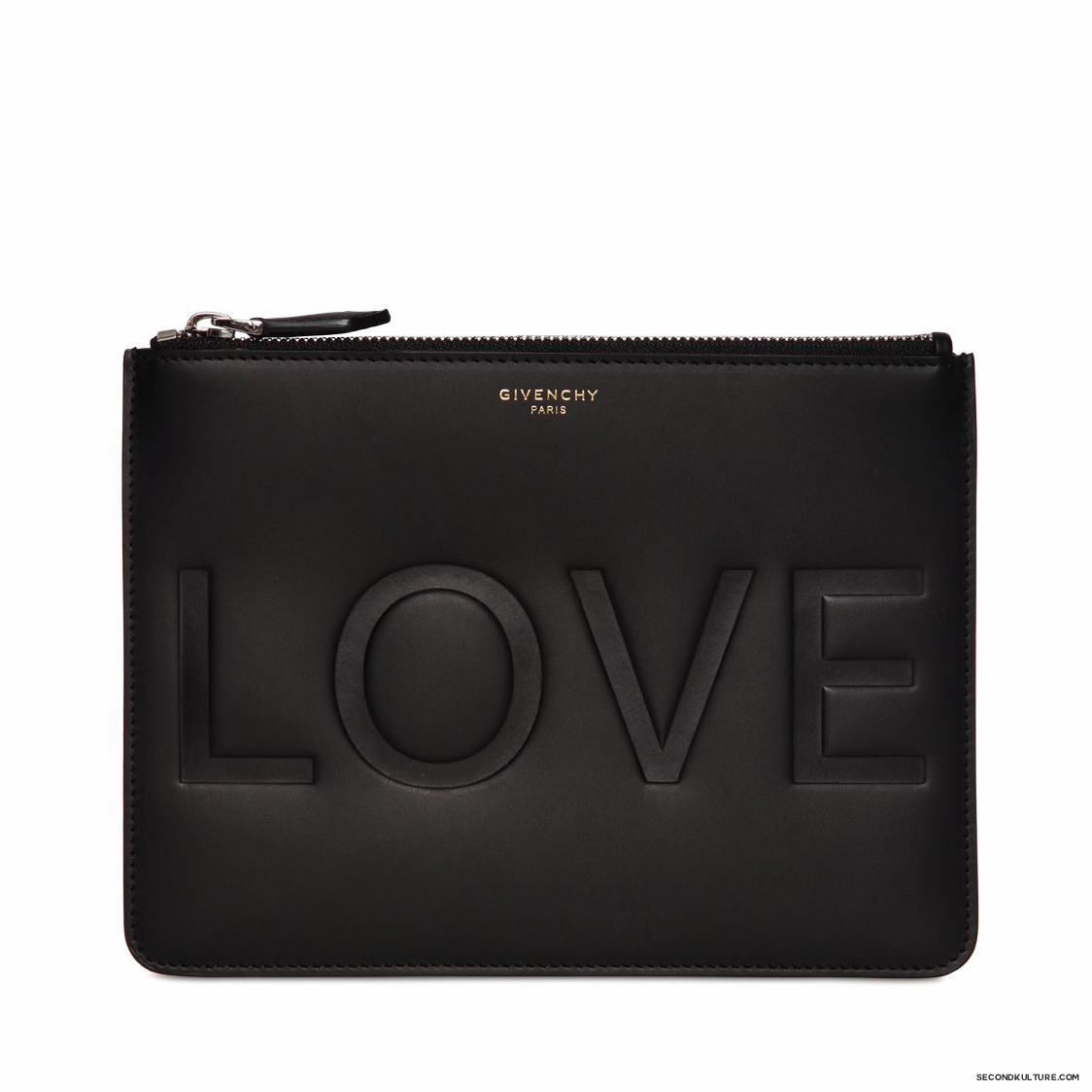 Givenchy-Black-Love-Embossed-Small-Zipped-Leather-Pouch-Fall-Winter-2015-1
