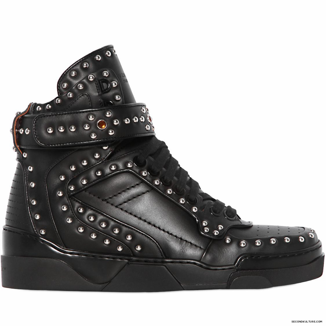 Givenchy-Black-Metal-and-Swarovski-Studded-Tyson-Leather-High-Top-Sneakers-Fall-Winter-2015-1