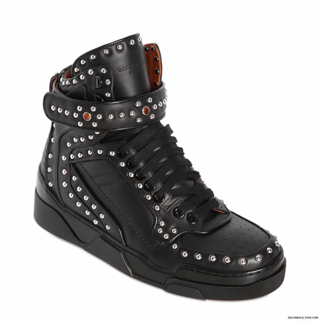Givenchy-Black-Metal-and-Swarovski-Studded-Tyson-Leather-High-Top-Sneakers-Fall-Winter-2015-2