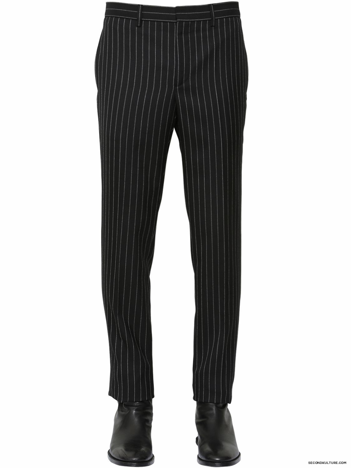 Givenchy-Black-Pinstriped-Wool-Flannel-Trousers-Fall-Winter-2015