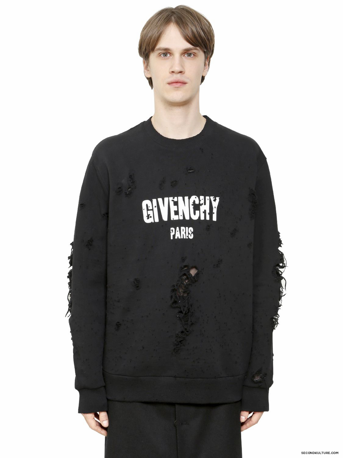 Givenchy-Logo-Print-Destroyed-Columbian-Fit-Sweatshirt-Fall-Winter-2015-1