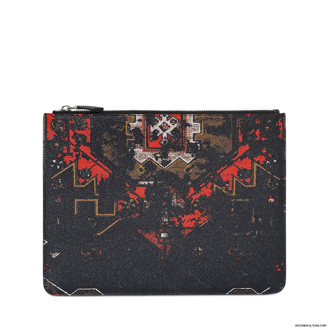 Givenchy-Native-American-Carpet-Degraded-Print-Zipped-Leather-Pouch-Fall-Winter-2015-1