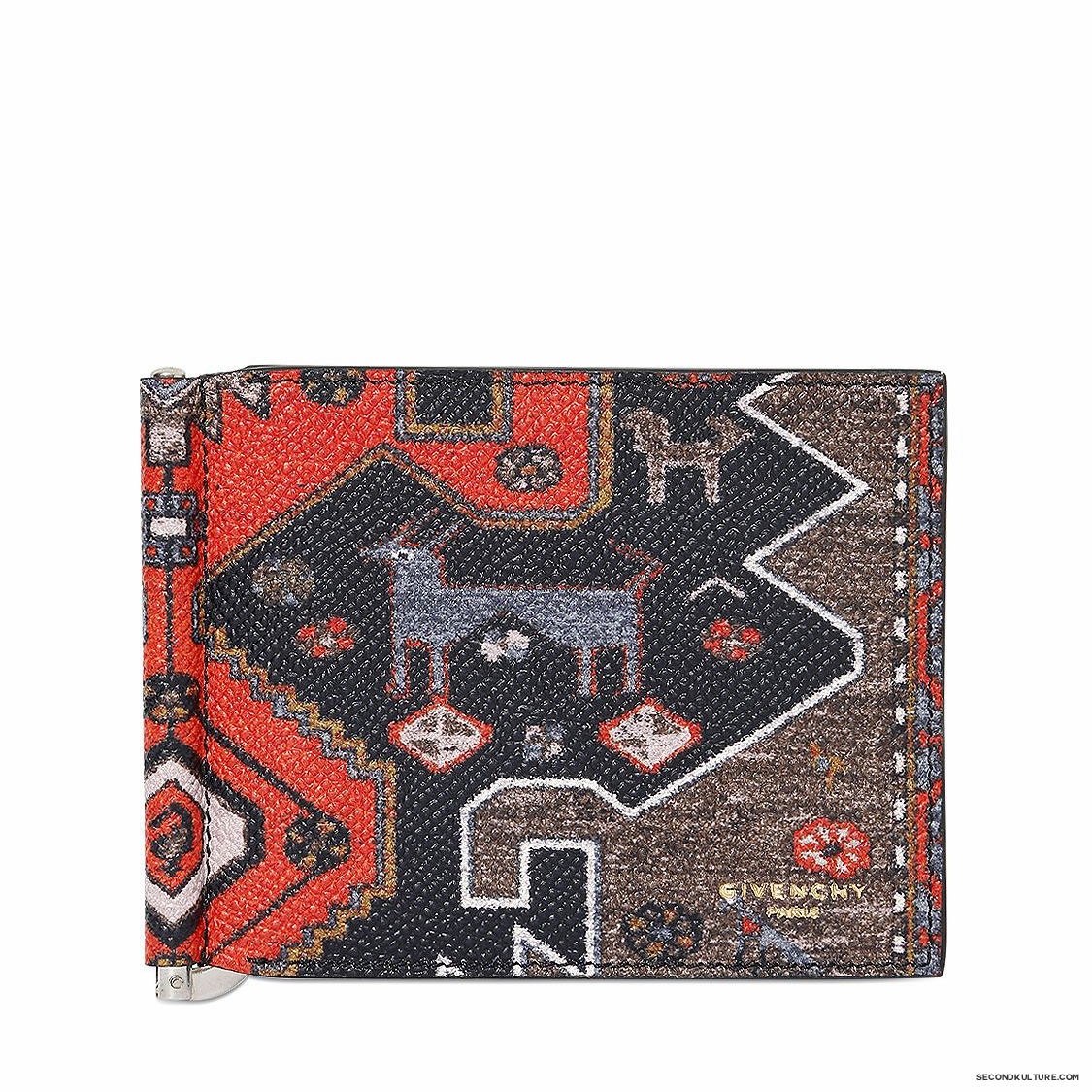 Givenchy-Native-American-Carpet-Print-Money-Clip-Leather-Wallet-Fall-Winter-2015-1