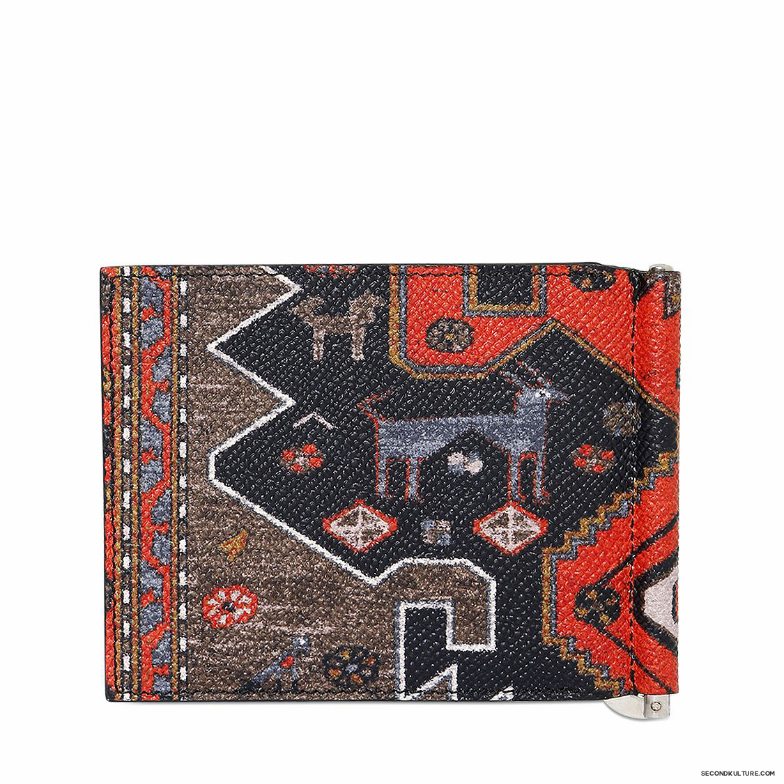 Givenchy-Native-American-Carpet-Print-Money-Clip-Leather-Wallet-Fall-Winter-2015-2