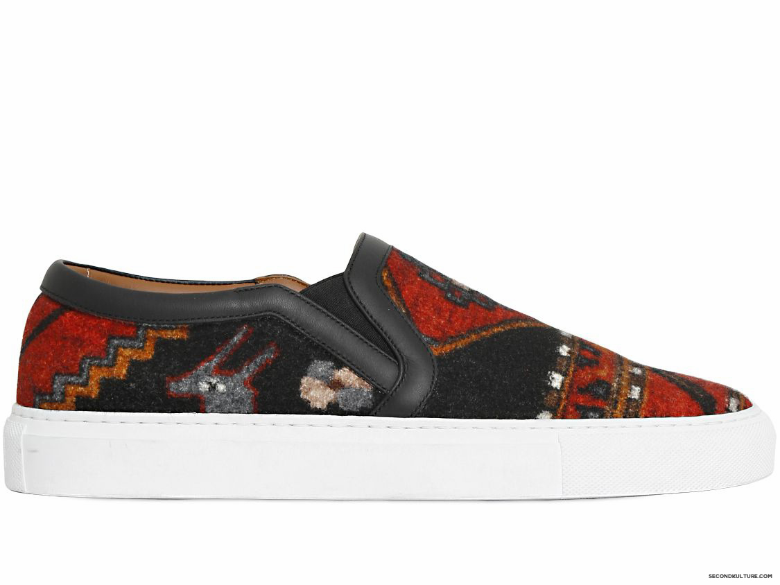Givenchy-Native-American-Carpet-Print-Tyson-Wool-Felt-Slip-On-Skate-Sneakers-Fall-Winter-2015-1
