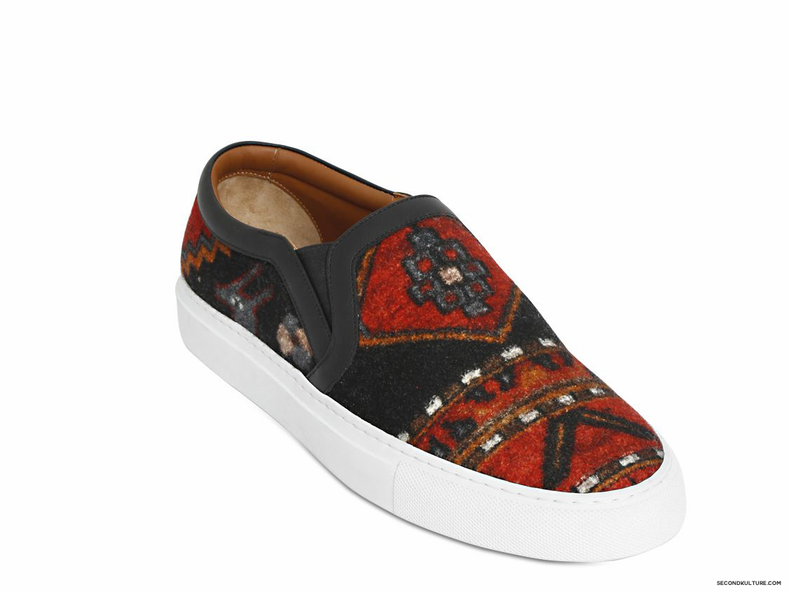 Givenchy-Native-American-Carpet-Print-Tyson-Wool-Felt-Slip-On-Skate-Sneakers-Fall-Winter-2015-2