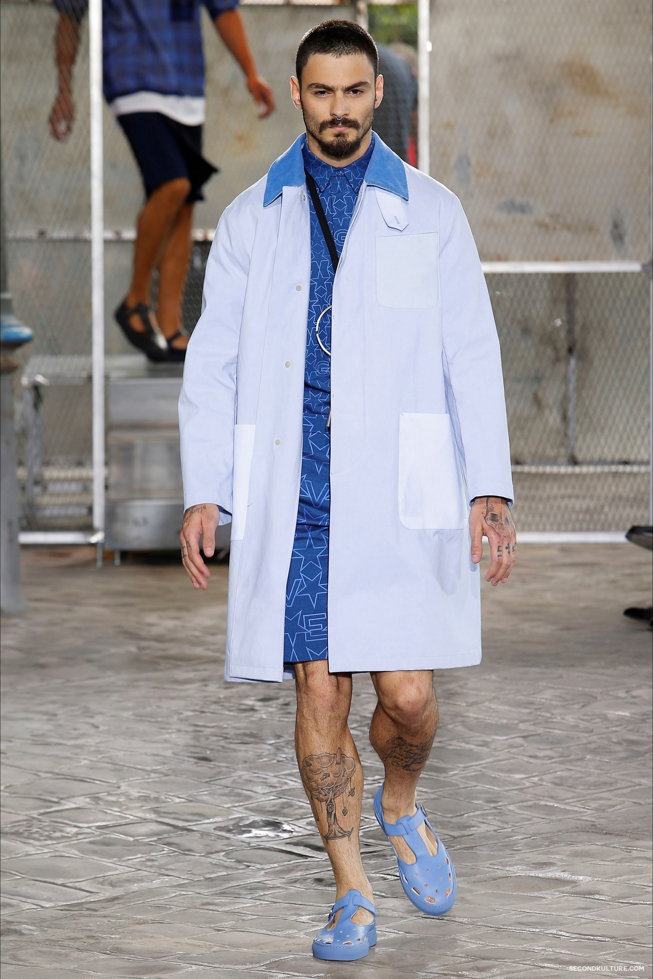 Givenchy Spring Summer 2016 Menswear Jesus Religion Chain Runway Show Look 20