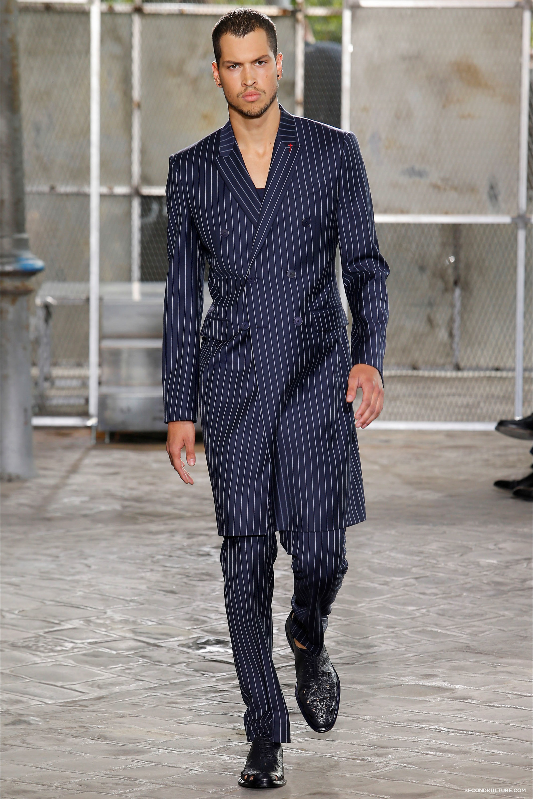 Givenchy Spring Summer 2016 Menswear Jesus Religion Chain Runway Show Look 35