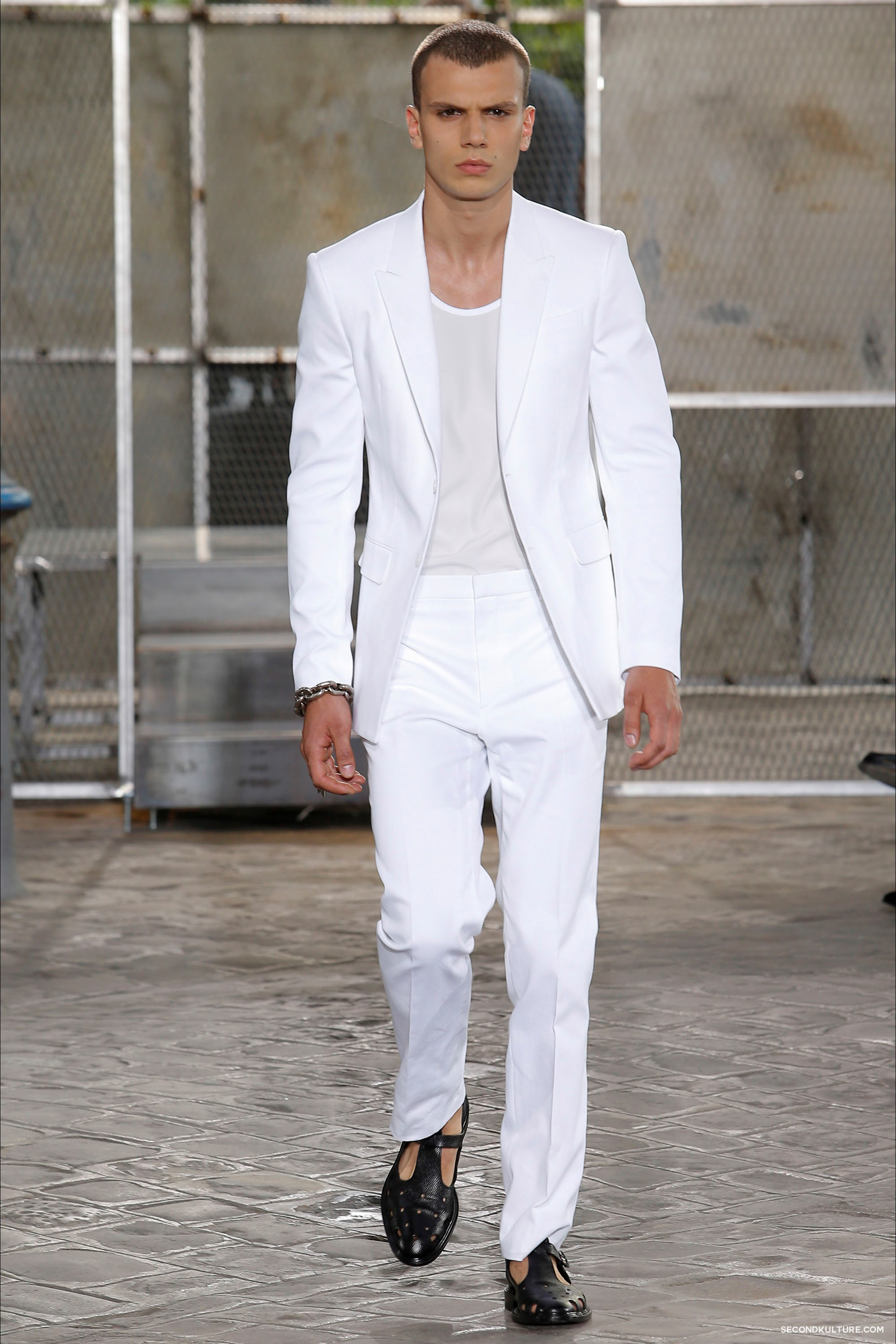Givenchy Spring Summer 2016 Menswear Jesus Religion Chain Runway Show Look 47