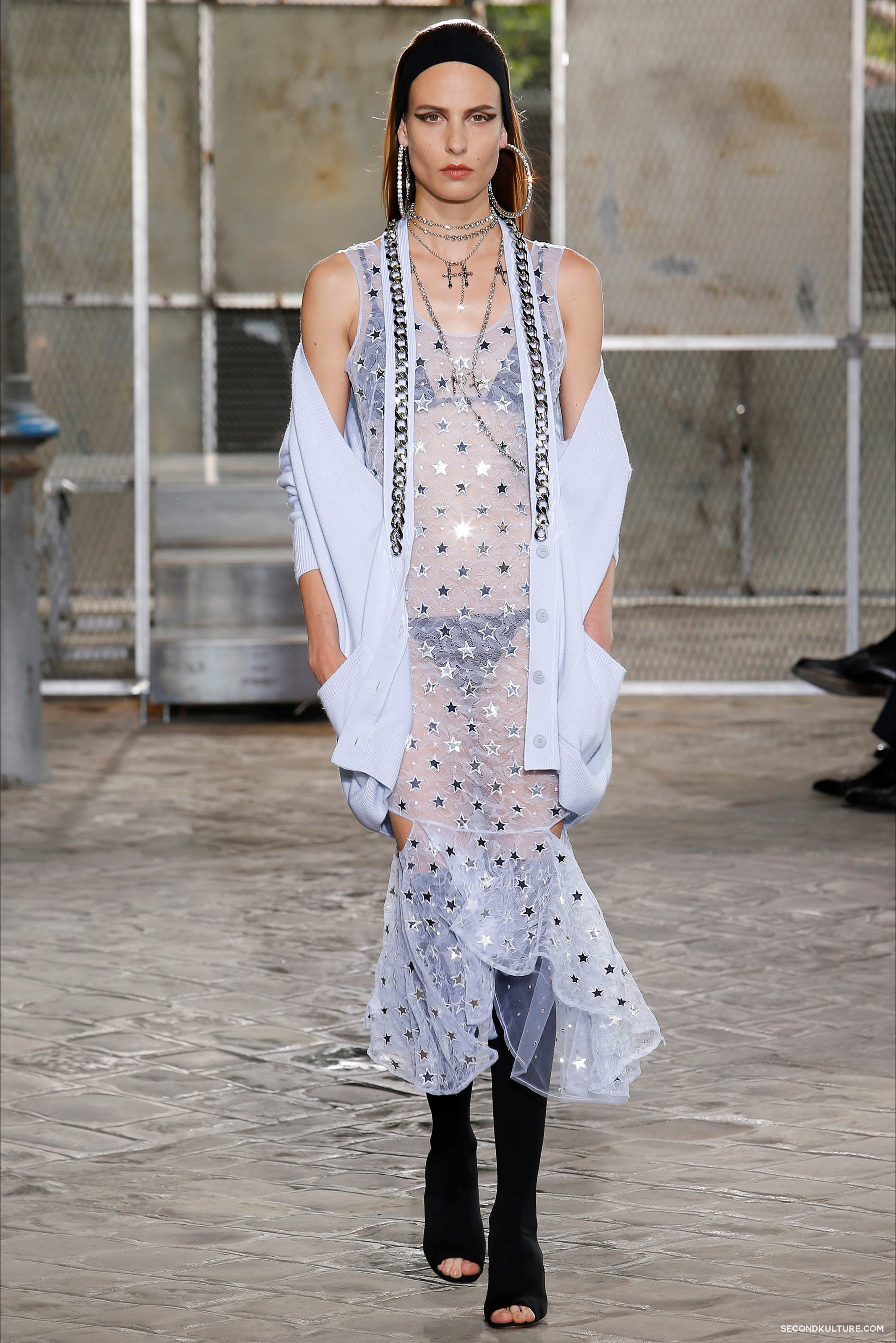 Givenchy Spring Summer 2016 Menswear Jesus Religion Chain Runway Show Look 48