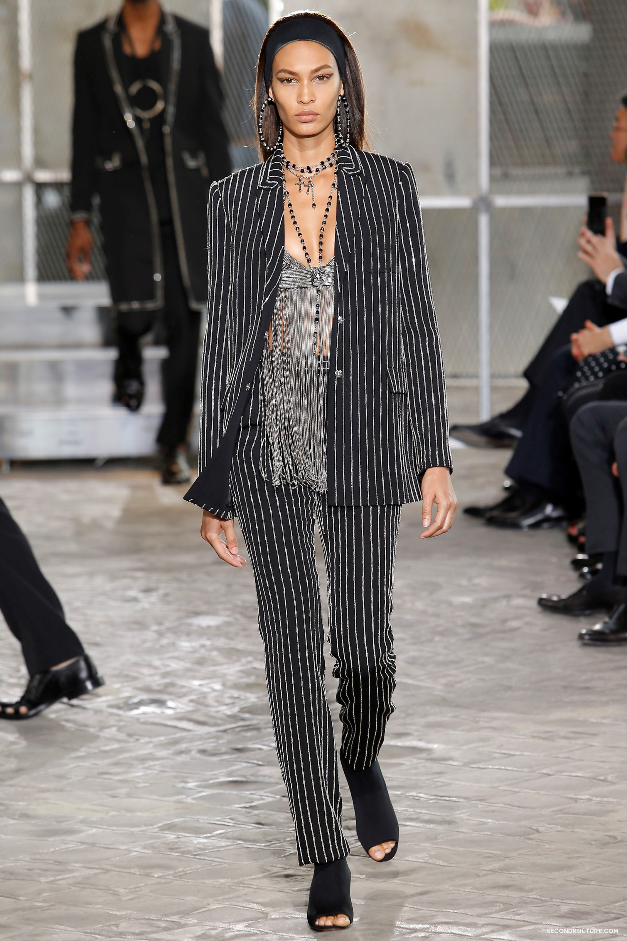 Givenchy Spring Summer 2016 Menswear Jesus Religion Chain Runway Show Look 58