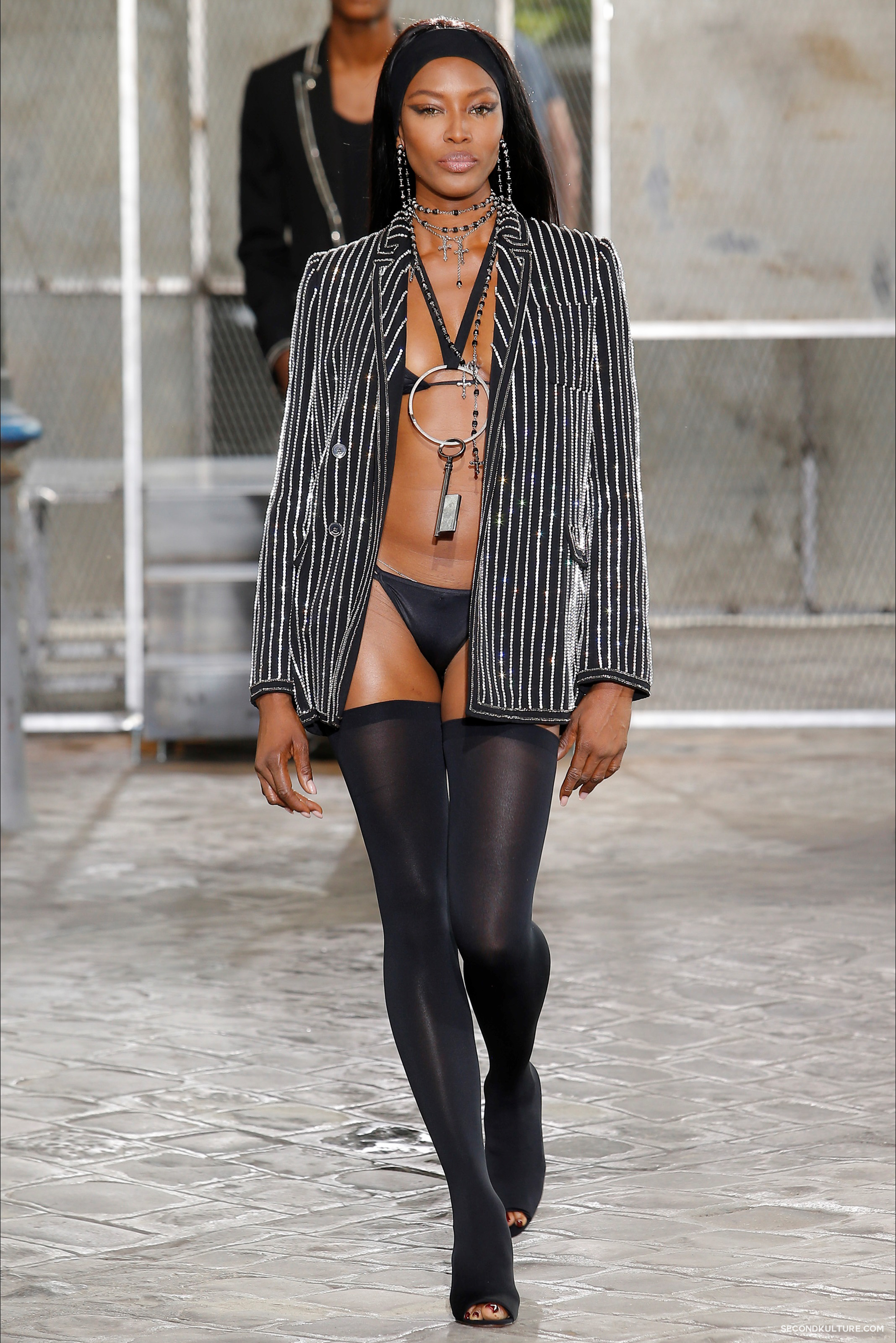 Givenchy Spring Summer 2016 Menswear Jesus Religion Chain Runway Show Look 60
