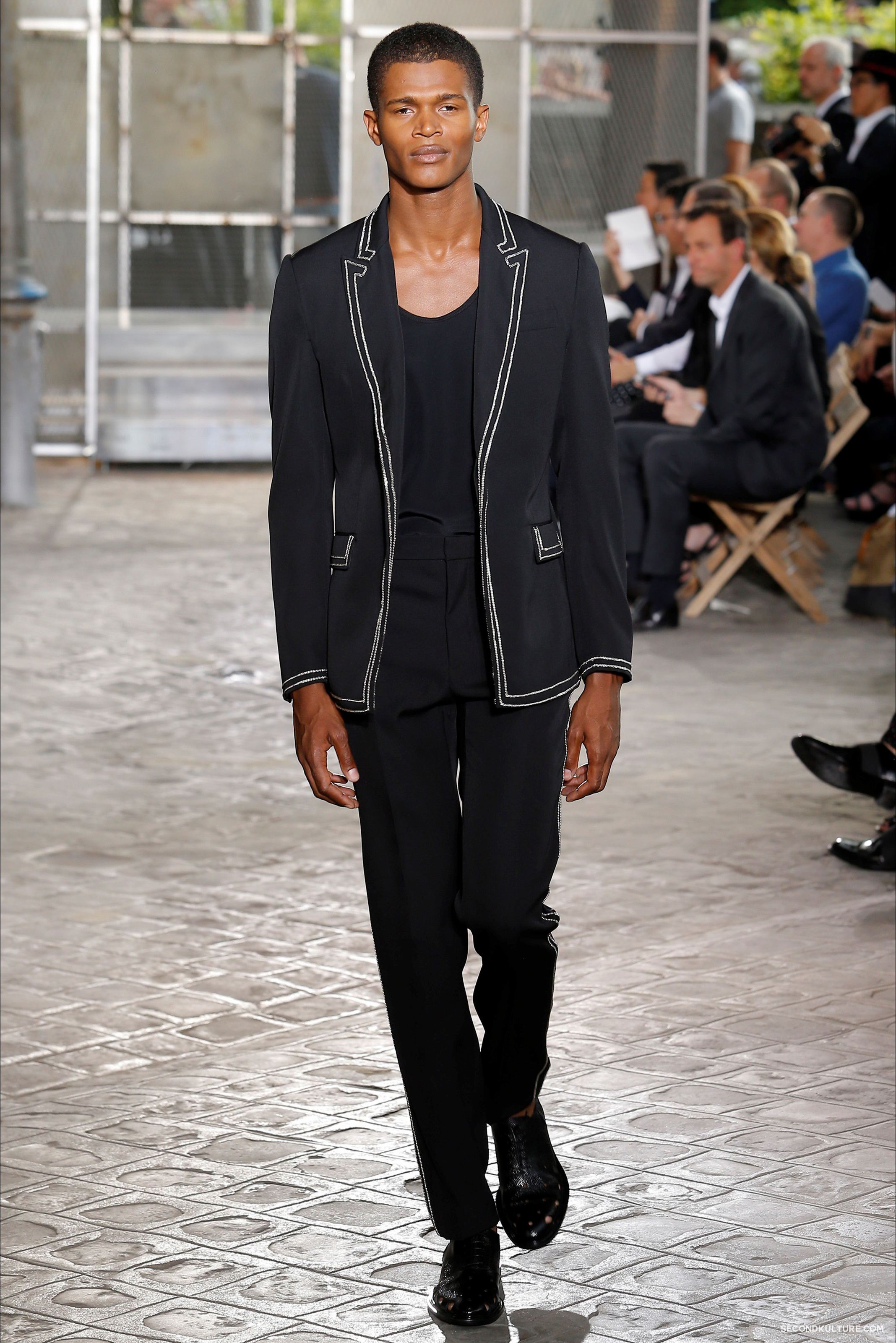 Givenchy Spring Summer 2016 Menswear Jesus Religion Chain Runway Show Look 61