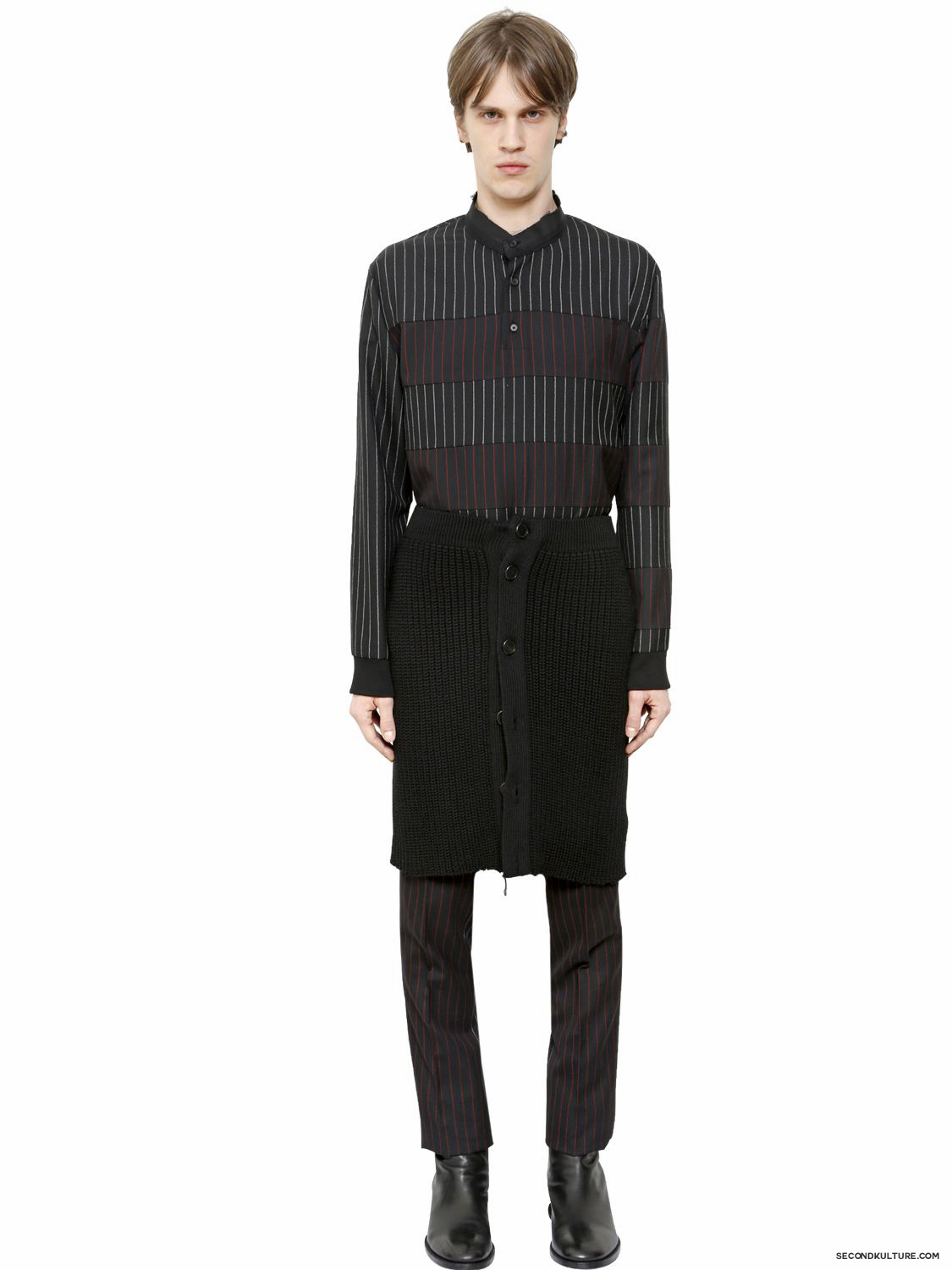 Givenchy-Wool-Cable-Knit-Button-Skirt-Fall-Winter-2015-2