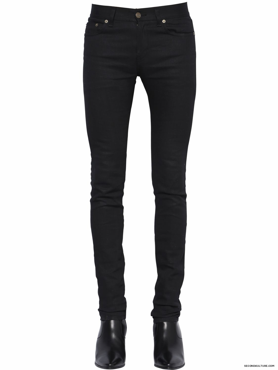 Saint-Laurent-15cm-Black-Classic-Skinny-Stretch-Denim-Jeans-Fall-Winter-2015-1