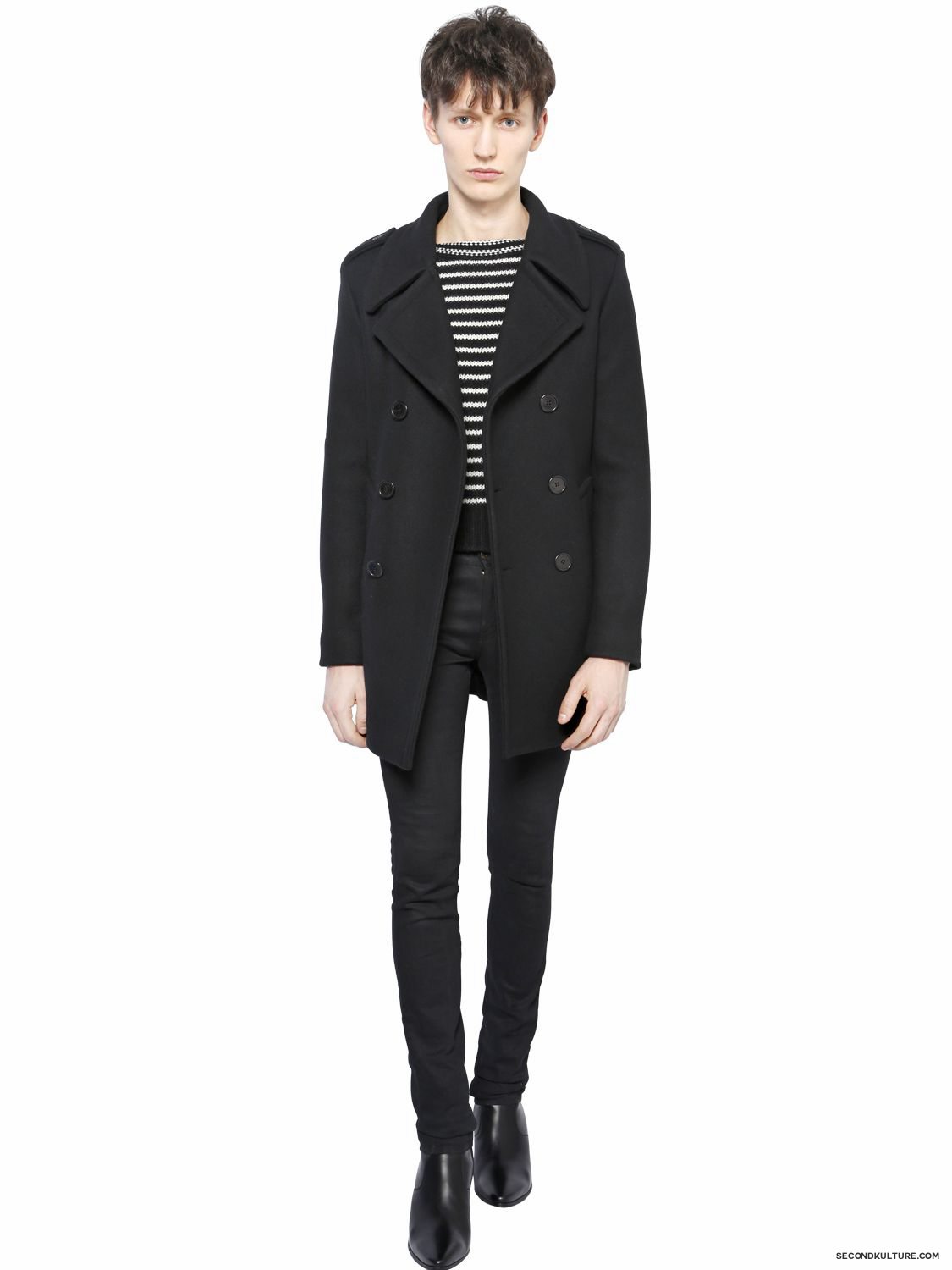 Saint-Laurent-15cm-Black-Classic-Skinny-Stretch-Denim-Jeans-Fall-Winter-2015-2