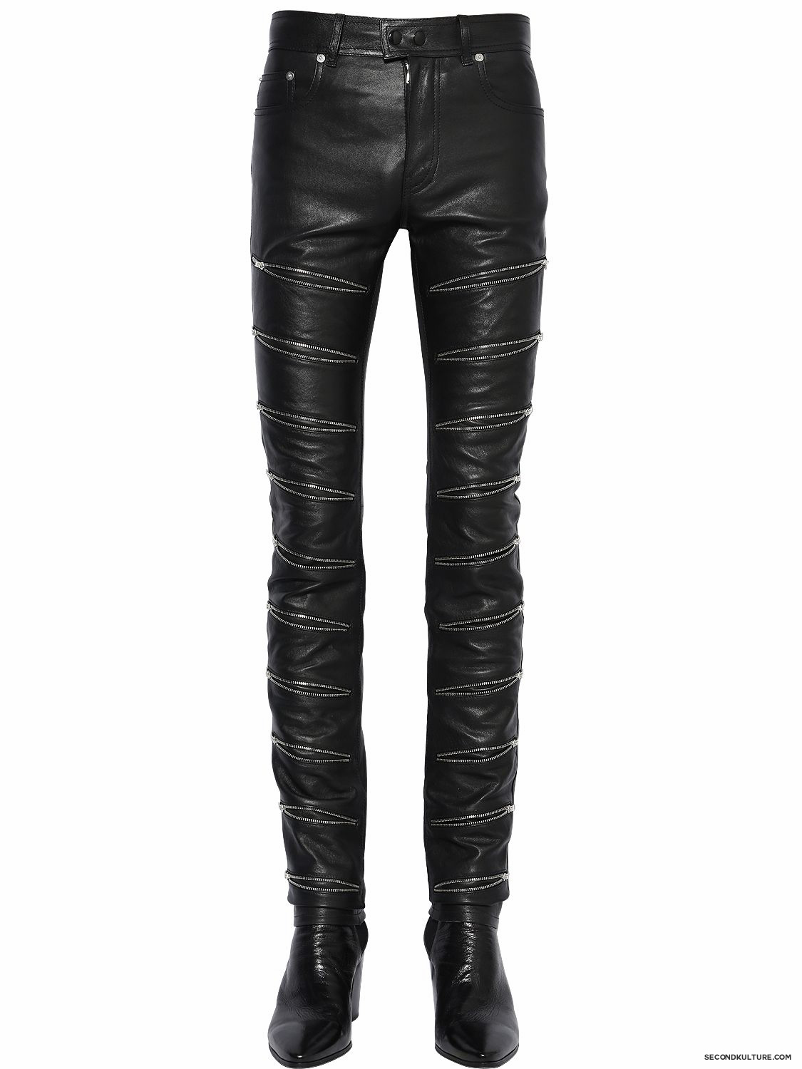 Saint-Laurent-15cm-Black-Multi-Zipped-Nappa-Leather-Pants-Fall-Winter-2015-1