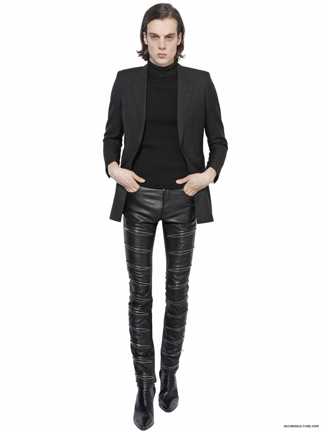 Saint-Laurent-15cm-Black-Multi-Zipped-Nappa-Leather-Pants-Fall-Winter-2015-2