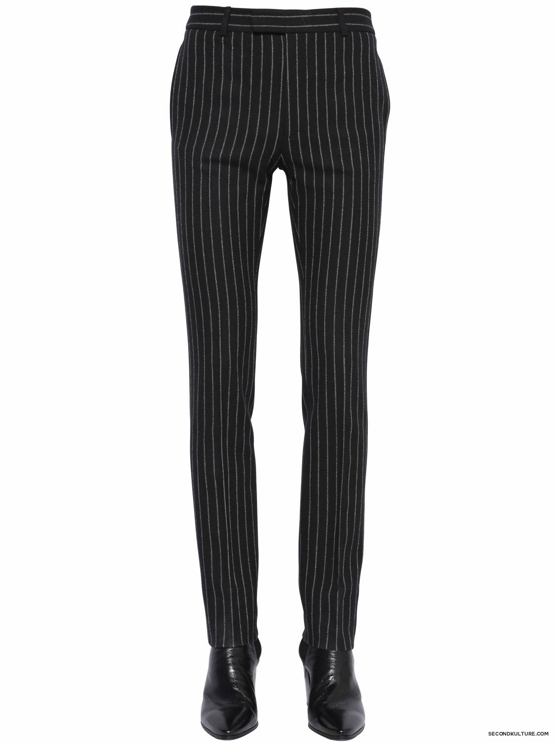 Saint-Laurent-17cm-Black-Contrast-Striped-Wool-Flannel-Trousers-Fall-Winter-2015-1