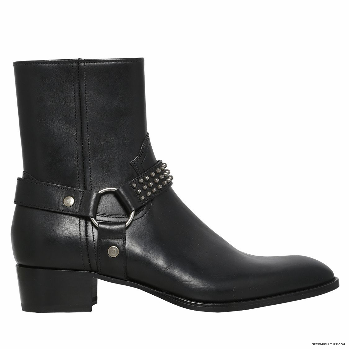 Saint-Laurent-40mm-Black-Wyatt-Studded-Harness-Leather-Ankle-Boots-Fall-Winter-2015-1