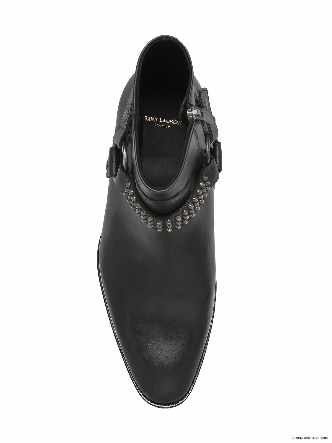 Saint-Laurent-40mm-Black-Wyatt-Studded-Harness-Leather-Ankle-Boots-Fall-Winter-2015-2