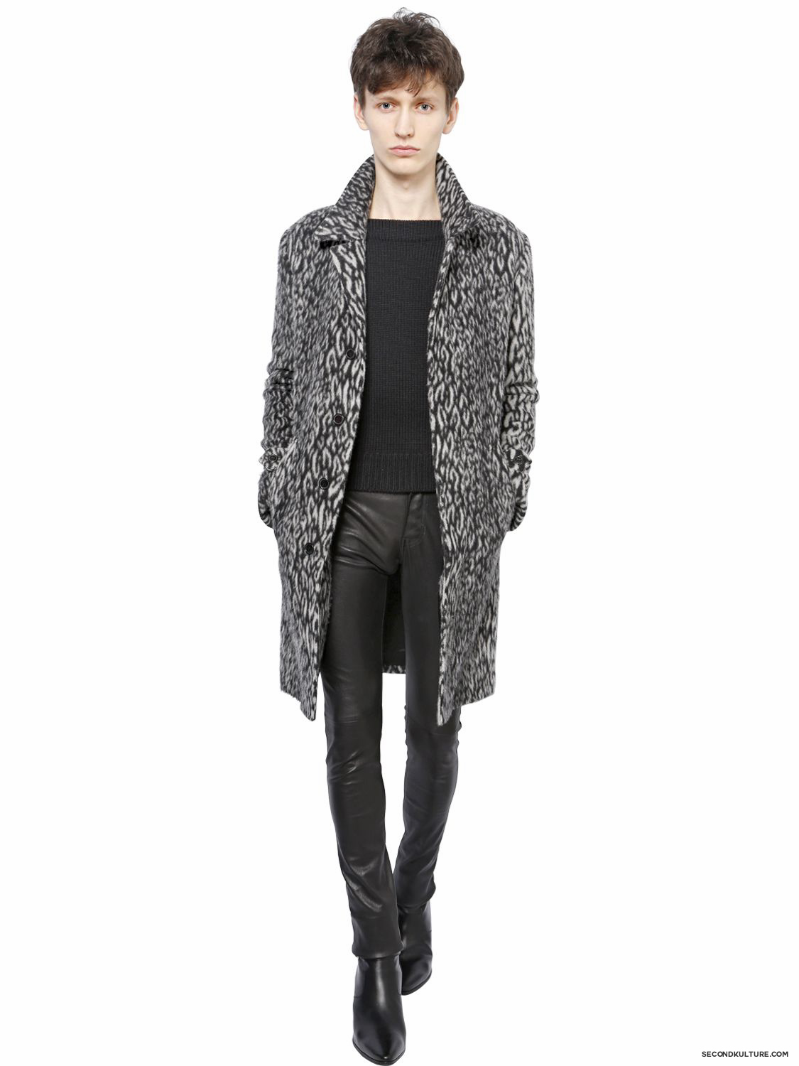 Saint-Laurent-Babycat-Wool-Blend-Coat-Fall-Winter-2015-2