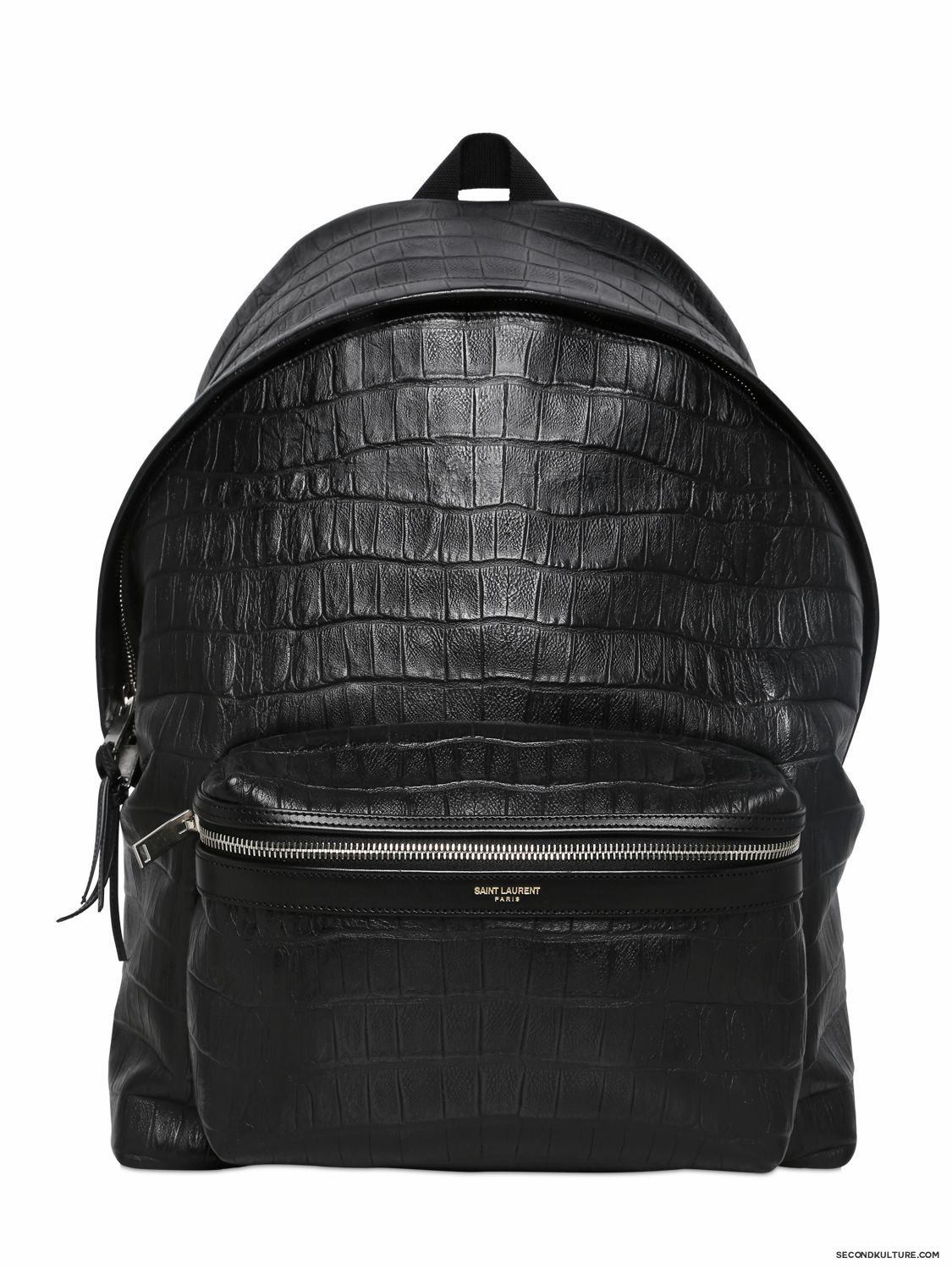 Saint-Laurent-Black-Croc-Embossed-Leather-Backpack-Fall-Winter-2015-1