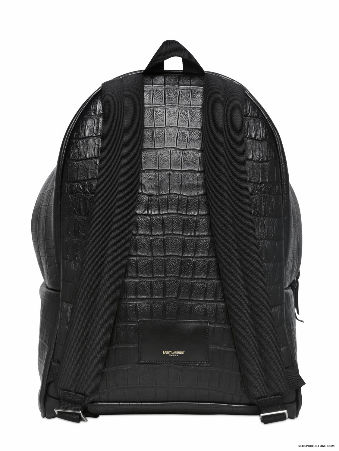Saint-Laurent-Black-Croc-Embossed-Leather-Backpack-Fall-Winter-2015-2