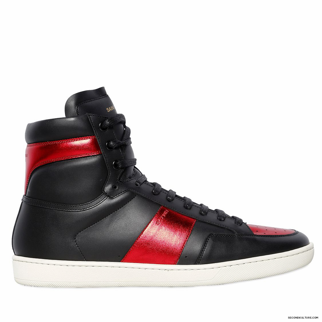 Saint-Laurent-Black-and-Red-Lame-Leather-SL10H-High-Top-Sneakers-Fall-Winter-2015-1