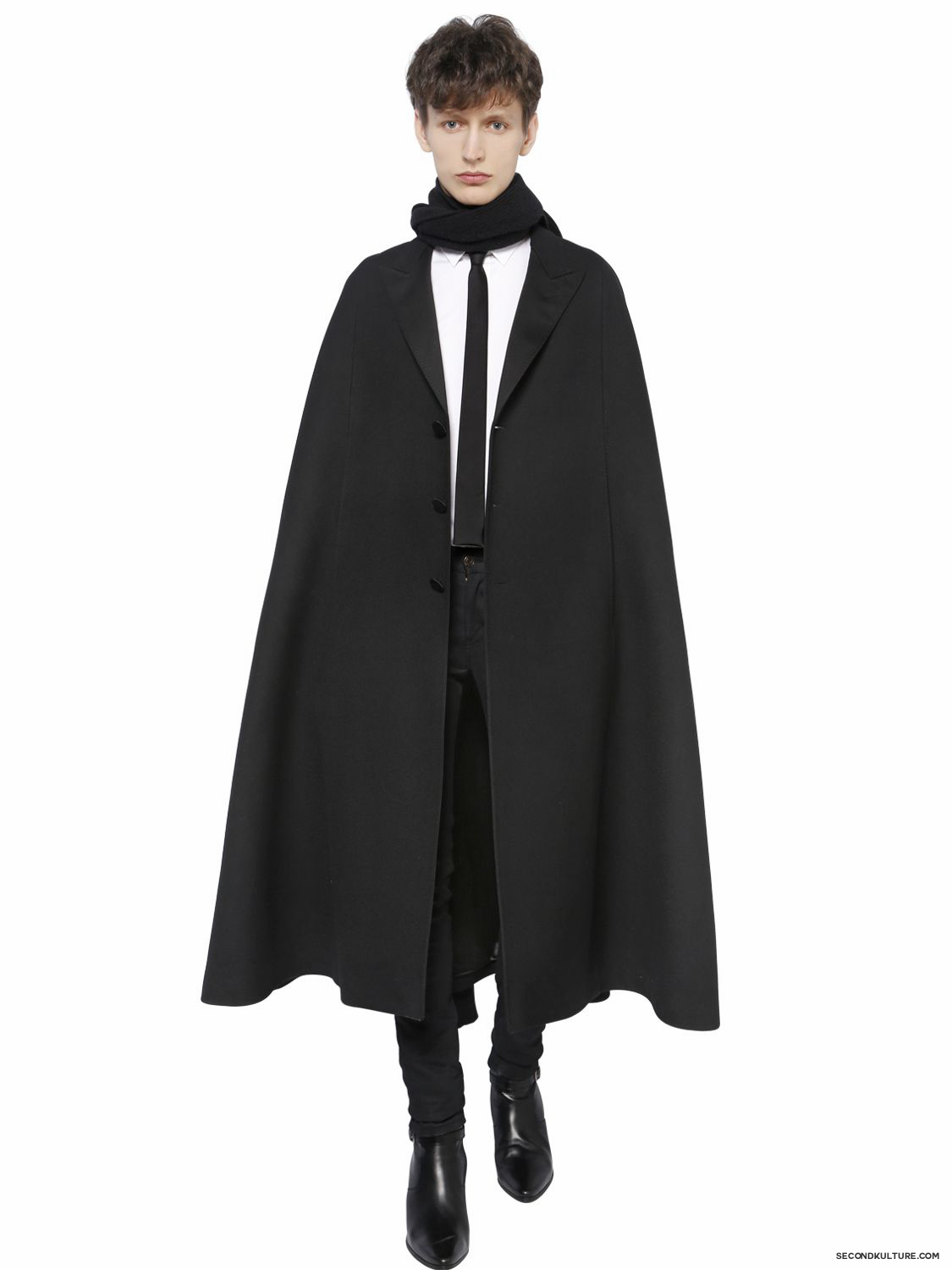 Saint-Laurent-Diagonald-Wool-Cape-Fall-Winter-2015-2